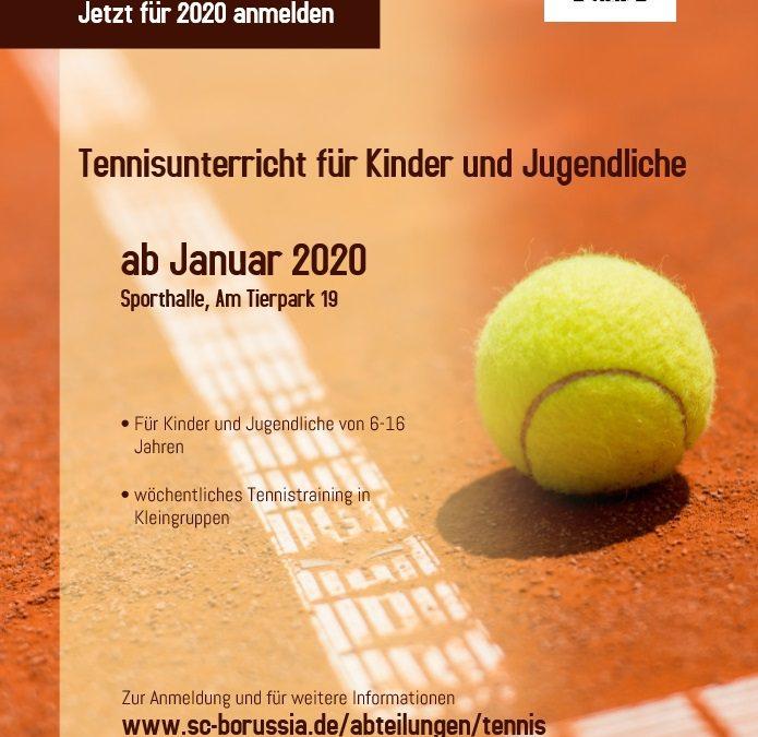 Neues Trainingsangebot der Abt. Tennis